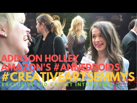 Addison Holley #Annedroids interviewed at the 43rd Daytime #CreativeArtsEmmys Awards