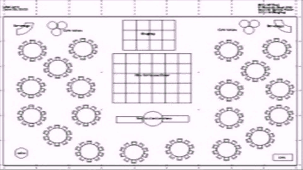Banquet hall floor plan template youtube for Banquet hall designs layout