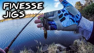 Finesse Jigs are OUTSTANDING for Cold Water Bass (Fall Bass Fishing)