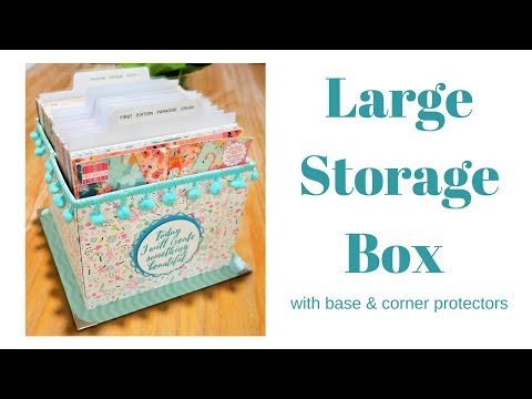 Storage Box Tutorial | 6 x 6 Paper Storage | DIY Chipboard Storage Box