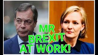 Wow! Nigel Farage RIPS Dutch MEP Marietje Schaake to SHREDS