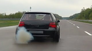 1150HP VW Golf 4 R32 Turbo Don Octane Acceleration Sound
