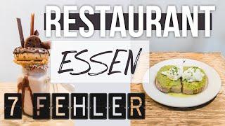 DIESE FEHLER MACHT FAST JEDER BEIM ESSEN GEHEN | 7 schlanke Restaurant Fitness Hacks
