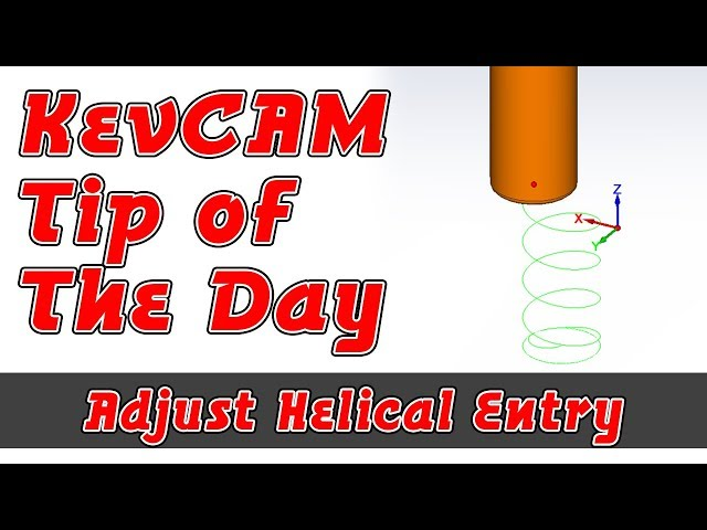 Tip of the Day - Adjust Helical Entry for iMachining