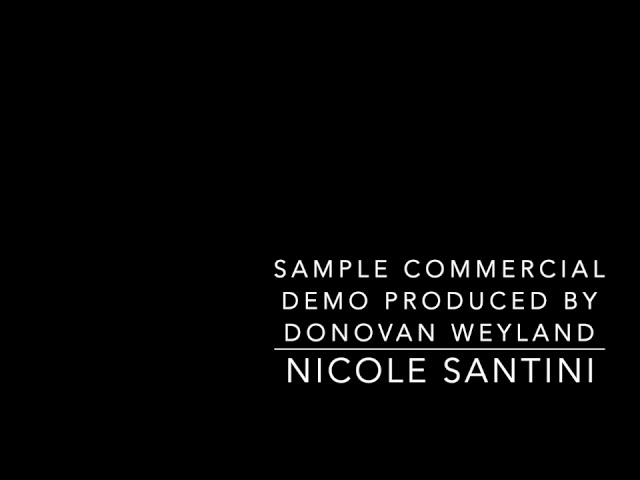 Sample Woman CommercialDemo