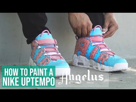 Nike Air More Uptempo '96 | Cotton Candy Clouds Custom | Angelus Paint