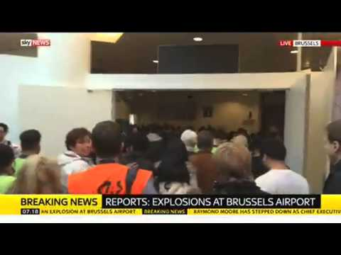 Sky Correspondent Inside Airport During Brussels Attack