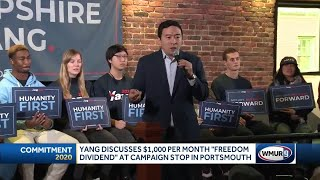 """Yang discuss """"Freedom Dividend"""" for Americans"""