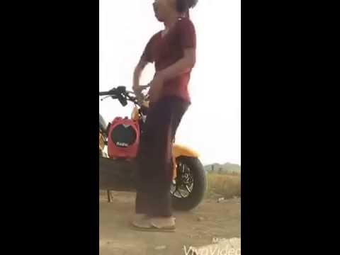 Funny Dance of school girl student