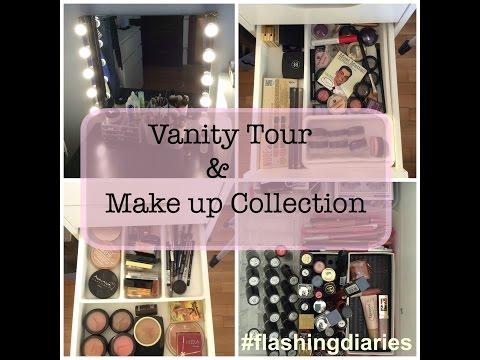 Vanity Tour & Make up Collection / Η συλλογή μου από καλλυντικά / Flashing Diaries