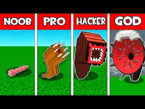 Minecraft NOOB vs PRO vs HACKER vs GOD : GIANT WORM EVOLUTION in Minecraft!
