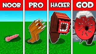 Minecraft NOOB vs PRO vs HACKER vs GOD : GIANT WORM EVOLUTION in Minecraft!