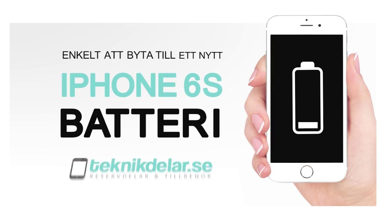 Såhär byter du batteri på iPhone 6S - Teknikdelar.se - YouTube 985cee4c17f85