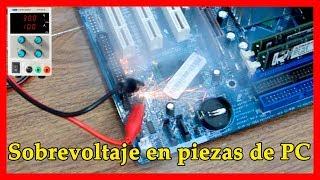 EXPERIMENTO - SobreVoltaje en componentes de PC