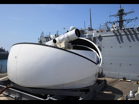 Office Of Naval Research - Laser Weapon System (LaWS) Naval Demonstrator Test Firing [480p]