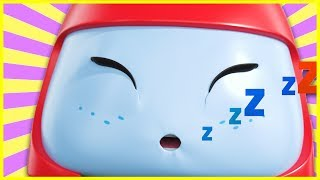 Buster And The Sleepy Train | Go Buster | Baby Cartoons | Kids Videos | ABCs and 123s