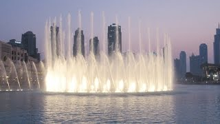 Dubai Fountain Burj Khalifa Lake Wasserspiele world greatest dancing fountains Fontänen نافورة دبي