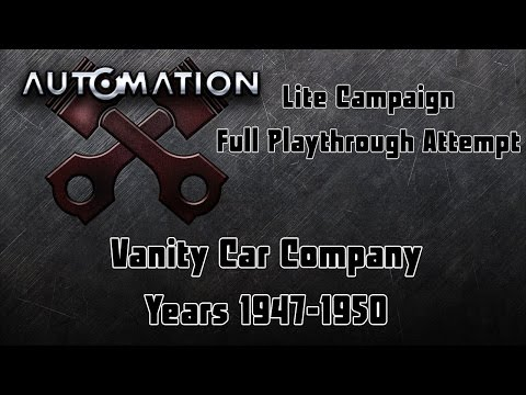 Automation   Lite Campaign Playthrough   Vanity - 1947-1950