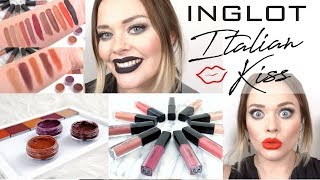 INGLOT Italian Kiss Collection | NEW Eyeshadow, Gel Liner and Lip Swatches