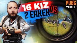 16 KIZ vs 2 ERKEK! KIZLAR ÇILDIRDILAR! PUBG Mobile Komik Anlar (Troll)
