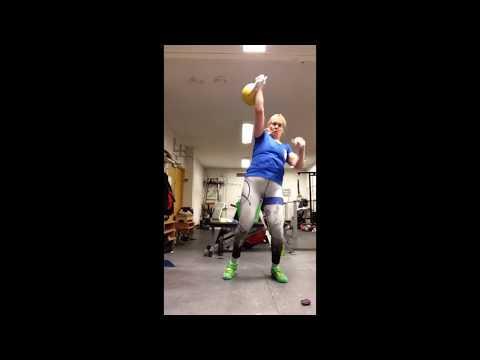 Snatch with swing 16kg 8 min