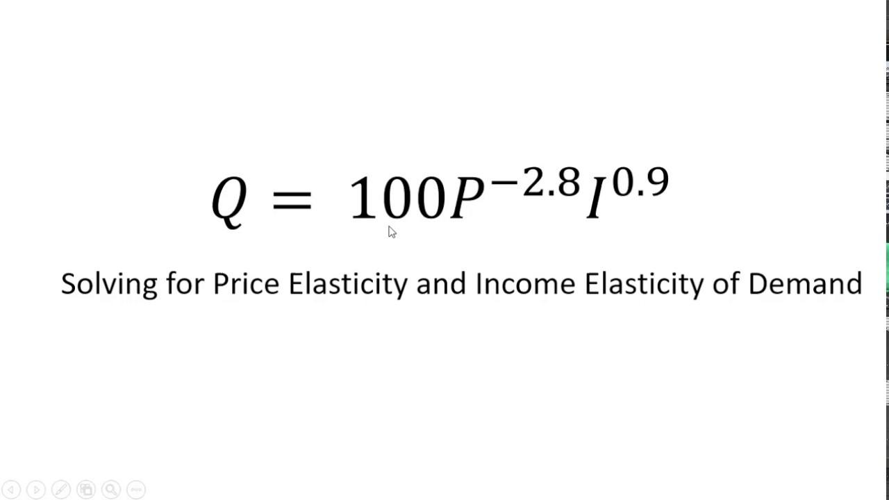 Nonlinear Demand Equation Elasticity Of Demand Youtube