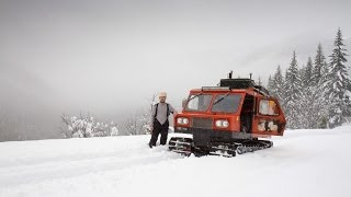 Deep Snow Camping oฑ a Snowcat - Adventures of My Life