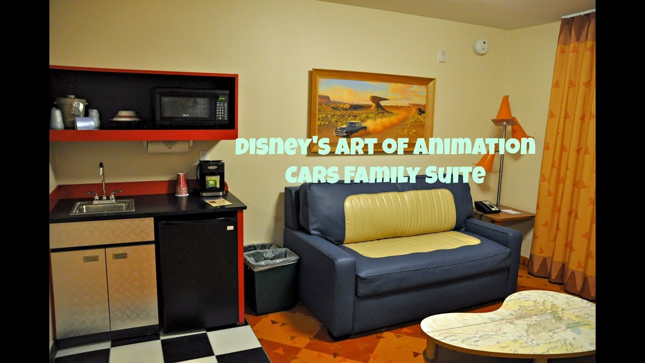 Walt Disney World\'s Art of Animation Cars Family Suite - YouTube