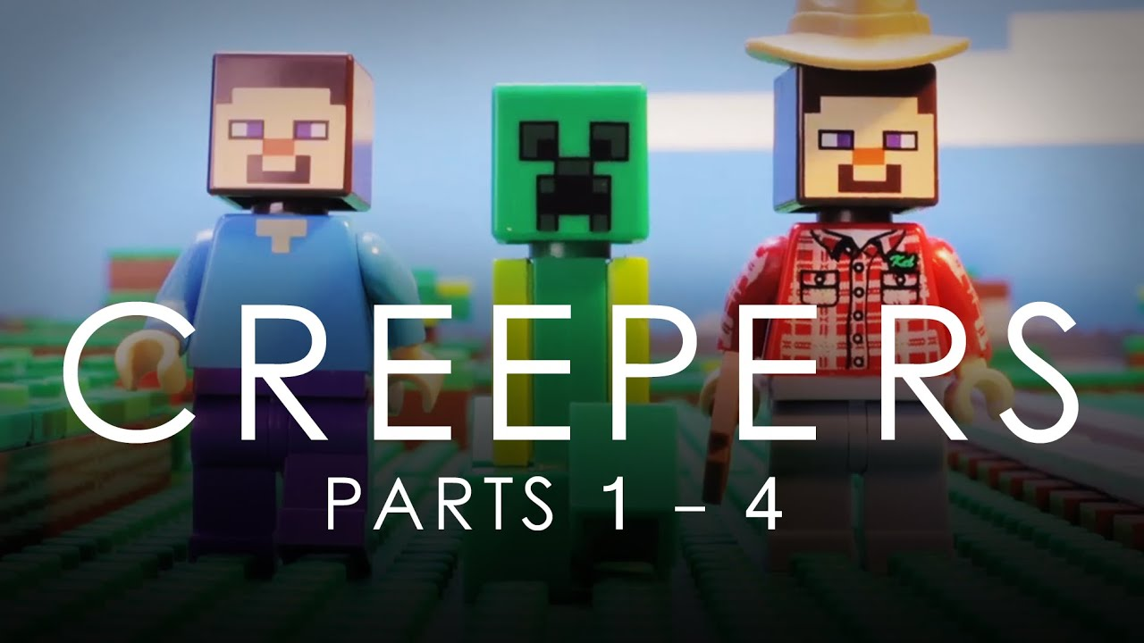 Download LEGO Minecraft: Creepers COMPLETE Vol. 1 Movie (Parts 1 - 4)