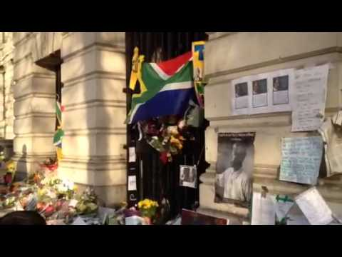 Nelson Mandela Tributes in South Africa Embassy London