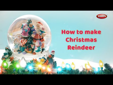 Christmas Reindeer Diy | How to make Reindeer For Christmas in Bengali | Xmas Diy Projects For Kids