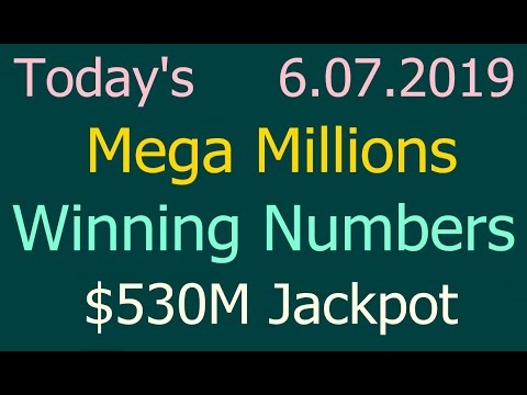 Today Mega Millions Winning Numbers 7 June 2019 Friday. Tonight Mega Millions Drawing 6/07/2019