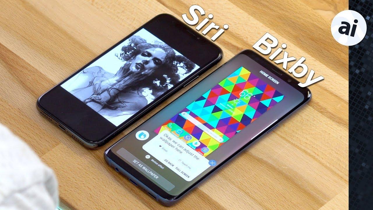 Watch: Apple's Siri on iPhone X vs  Samsung's Bixby Voice on