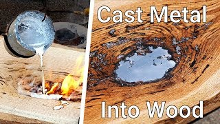 How To Cast Aluminum into Wood // Molten Aluminum Lake Table