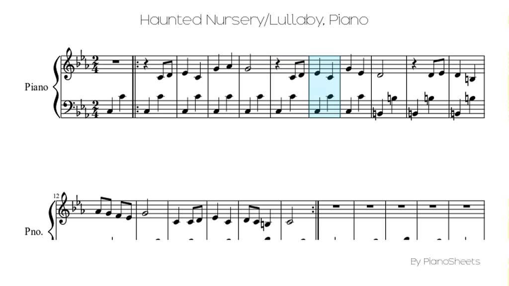 Haunted Nursery Lullaby Piano Solo