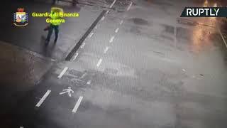 فيديو.. لحظة انهيار جسر جنوة فى إيطاليا - اليوم السابع