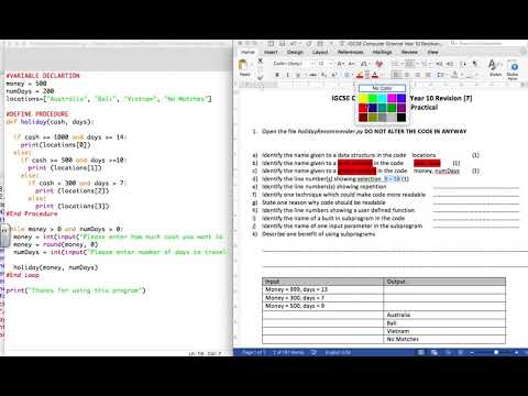 GCSE Computer Science Programming