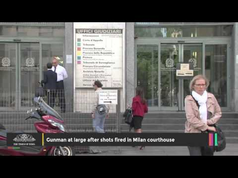 Gunman at Large After Shots Fired in Milan Courthouse