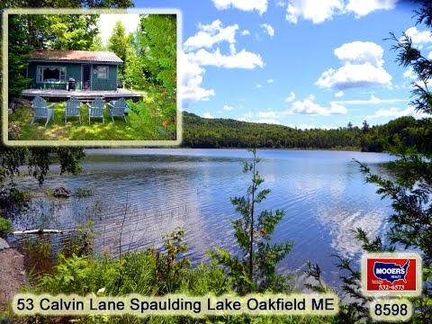 Video Home On Maine Water Front  53 Calvin Lane Spaulding Lake Oakfield ME MOOERS 8598