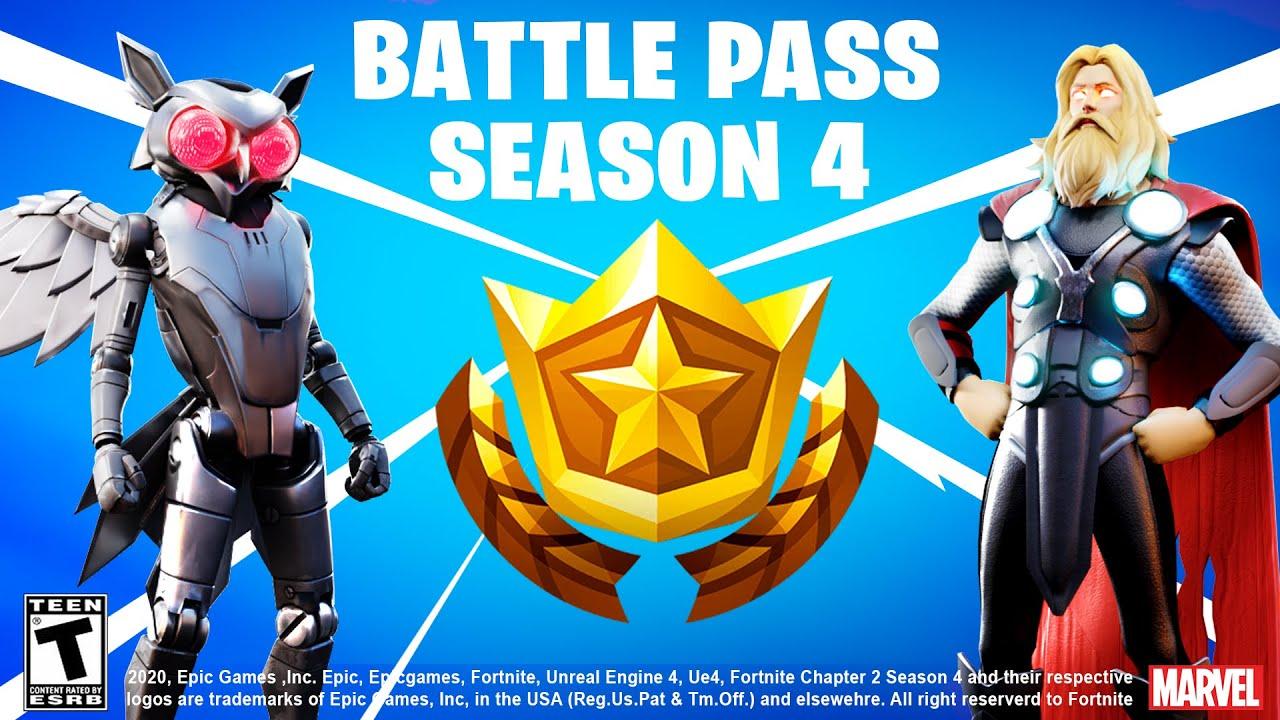 Fortnite Season 4 Battlepass Youtube