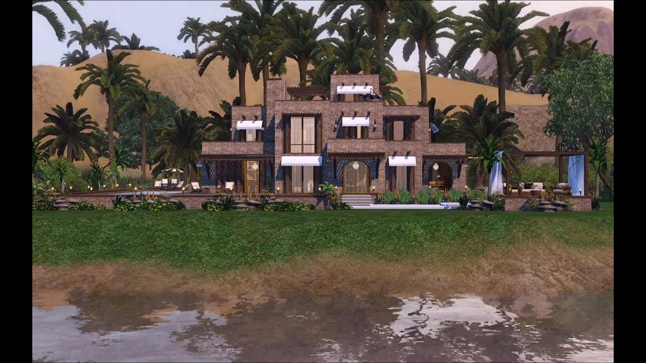 Sims 3 Traditionally Modern Egyptian Mansion 1080p New Version Youtube