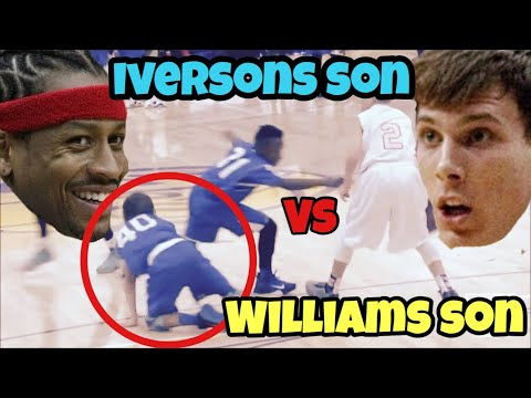 ALLEN IVERSONS SON VS JASON WILLIAMS SON!!! WHO IS BETTER??ANKLE BREAKERS!