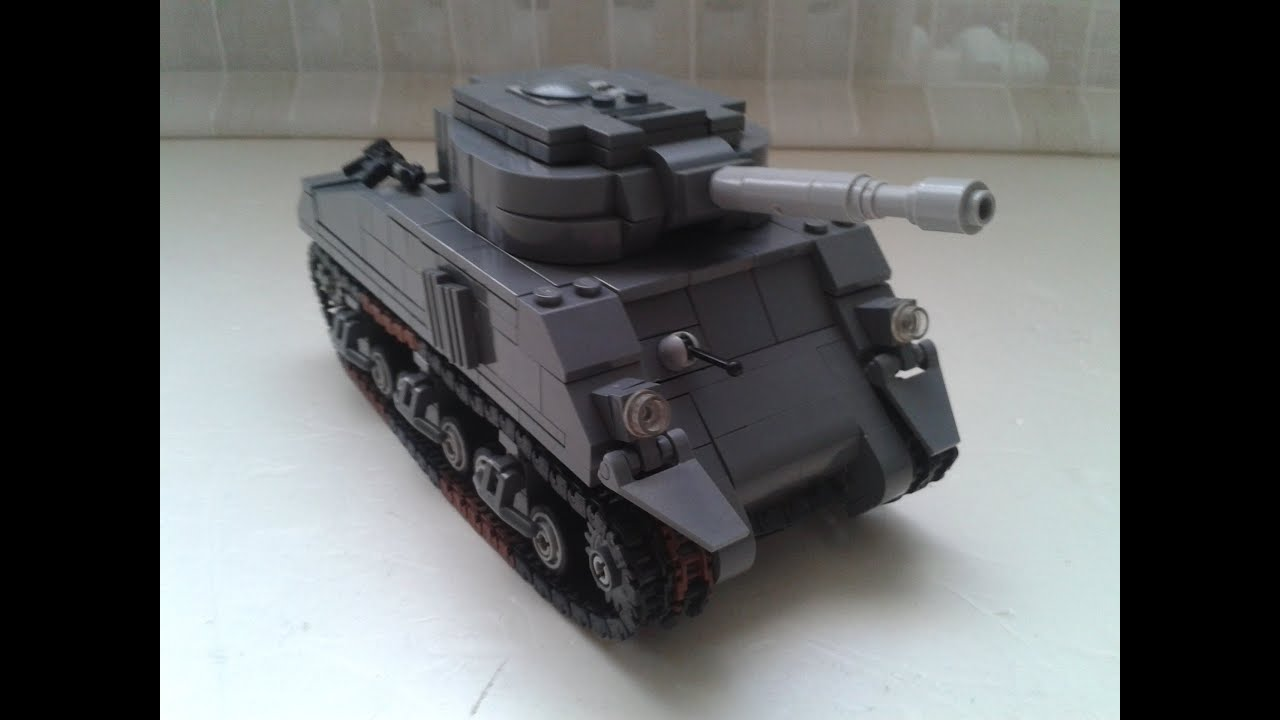 Lego M4A3 Sherman (WITH INSTRUCTIONS) - YouTube