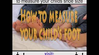 How to find you child's proper shoe size.
