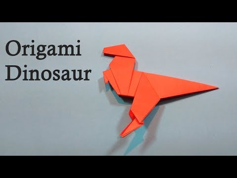 How To Make an Easy Origami Paper Dinosaur | DIY Origami Paper Craft | Easy Tutorial