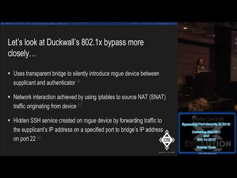 Track 2 19 Bypassing Port Security In 2018 Defeating MacSEC and 8021x 2010  Gabriel Ryan
