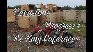 Motovlog #06 || Recustom Rongtak , RX King Cafe Racer || Dinda Nawa