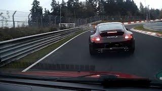 Suzuki Swift Sport vs. Porsche 911 Carrera S Nordschleife Nürburgring yellow flag 09.11.2014