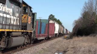 UP GP60 #1900 leads a local at Brumley, Arkansas
