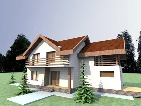 Proiecte vile cu mansarda casa b59 arhitect iasi youtube for Youtube case cu mansarda